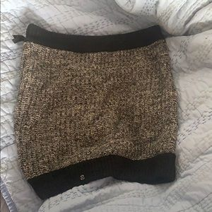 Lululemon zip circle scarf knit